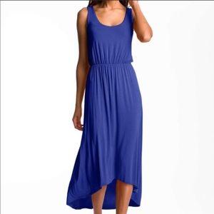 FELICITY & COCO Blue High Low Midi Tank Dress